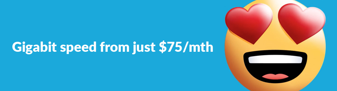 2degrees - Fibre Gig from $75/mth