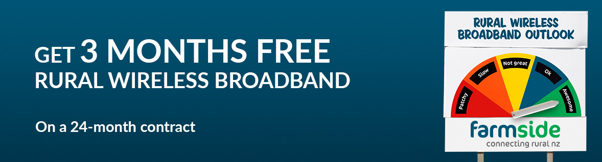 Farmside - 3 Months FREE Rural Wireless Broadband