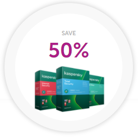 50% Discount at Kaspersky
