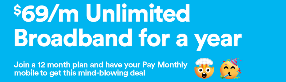 2degrees Broadband from $69/mth