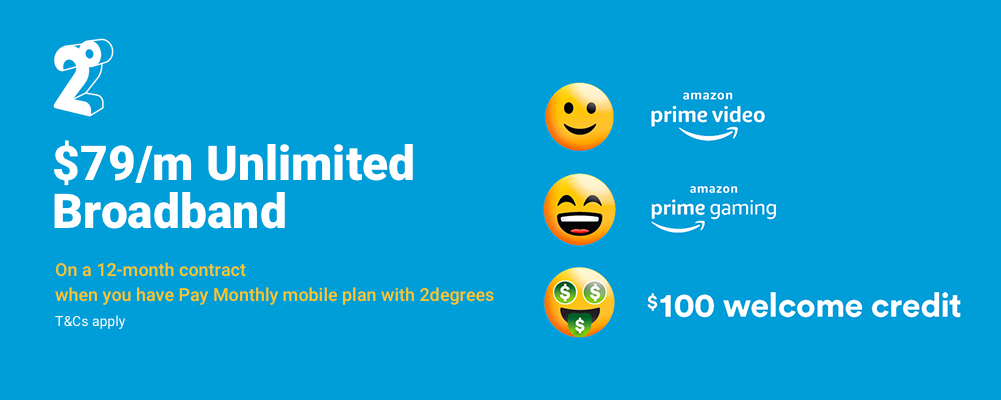 2degrees Broadband from $79/mth