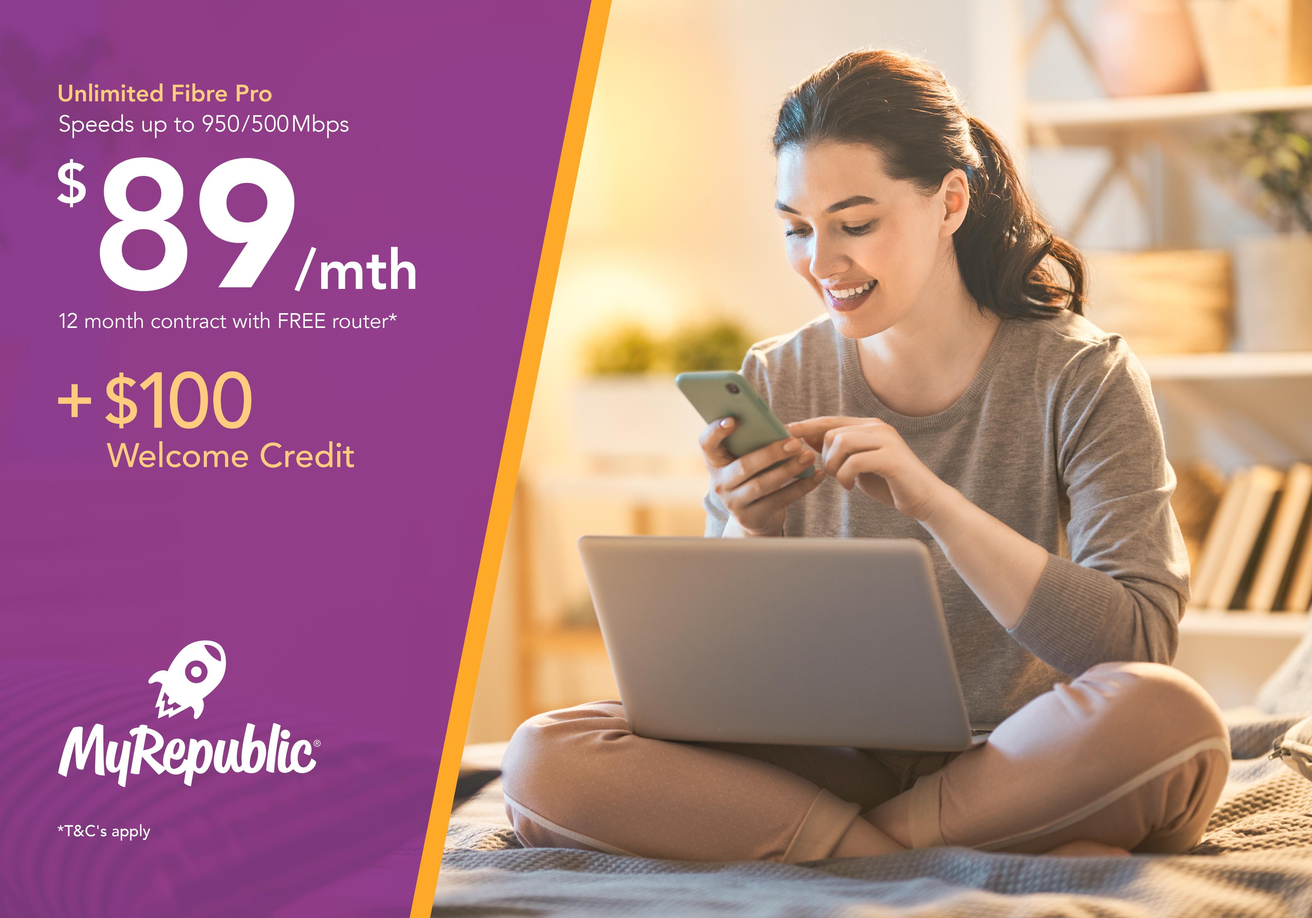 MyRepublic - Fibre Pro just $89/month