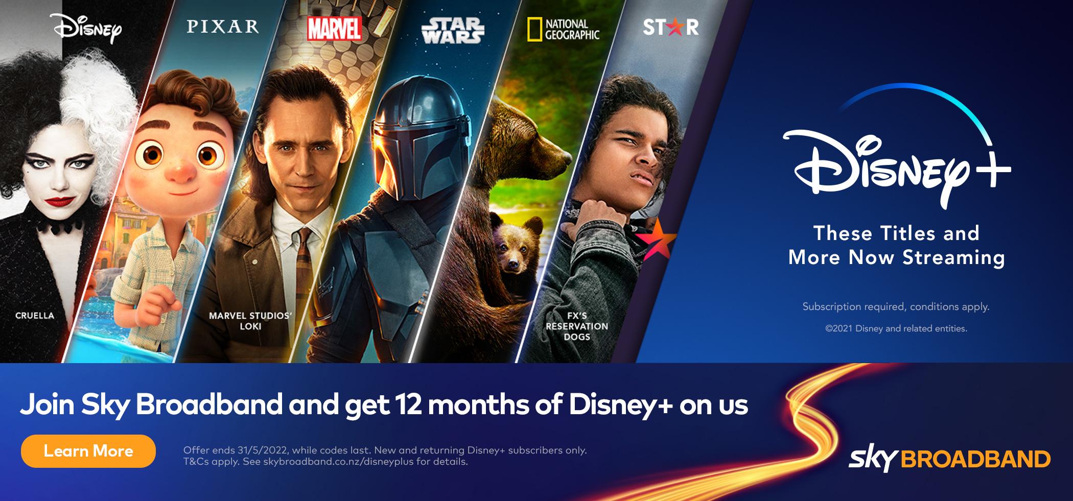 Sky Broadband - Disney+ offer