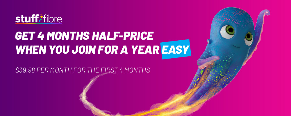 Stuff Fibre - 4 Months Half Price Deal