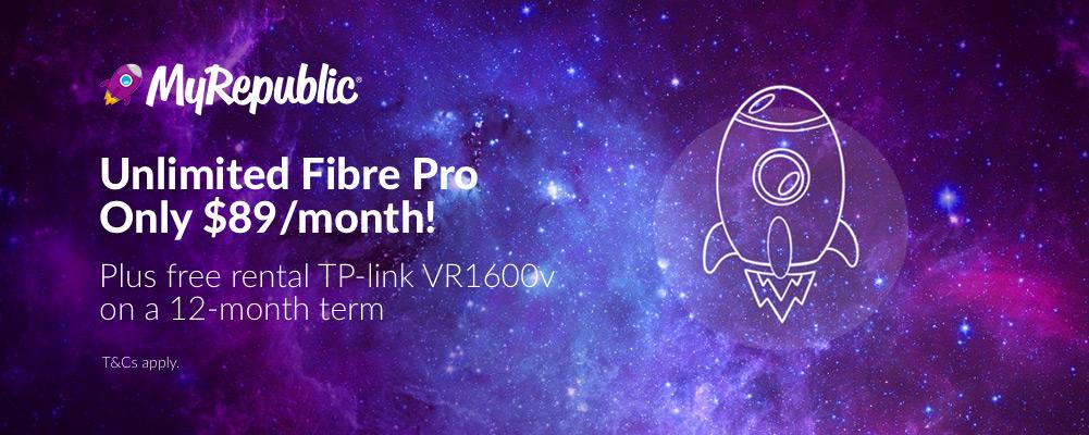 MyRepublic - Fibre Pro from $89/month