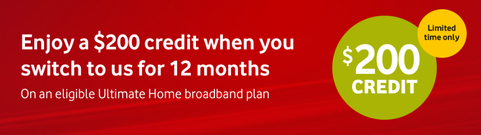 $200 Broadband Credit Offer - Vodafone