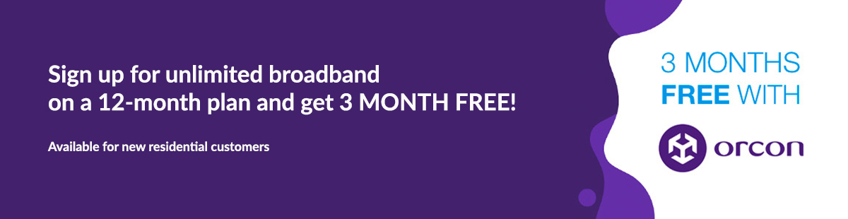 Orcon Exclusive 3 months free