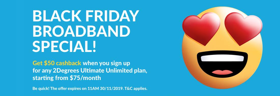 2degrees - Black Friday Broadband Special