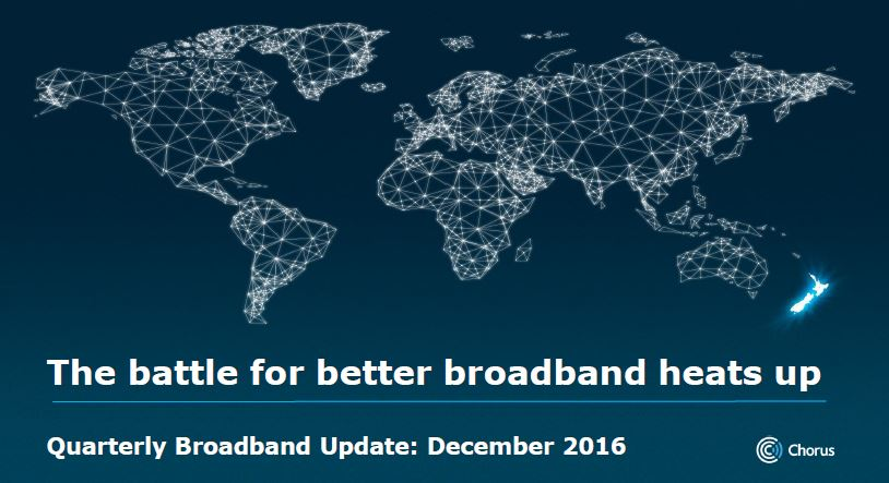 The Battle for Better Broadband Heats up – Latest Chorus Quarterly Update