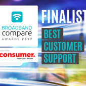 Best Customer Support Broadband Compare Awards 2017 - Finalists