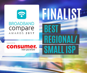 Best Regional or Small ISP Broadband Compare Awards 2017 - Finalists