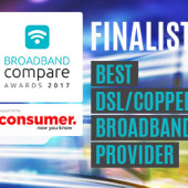 Best Copper / DSL Broadband Provider Broadband Compare Awards 2017 - Finalists
