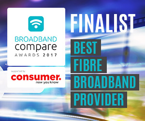 Best Fibre Broadband Provider Broadband Compare Awards 2017 - Finalists