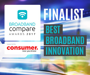 Best Broadband Innovation Broadband Compare Awards 2017 - Finalists
