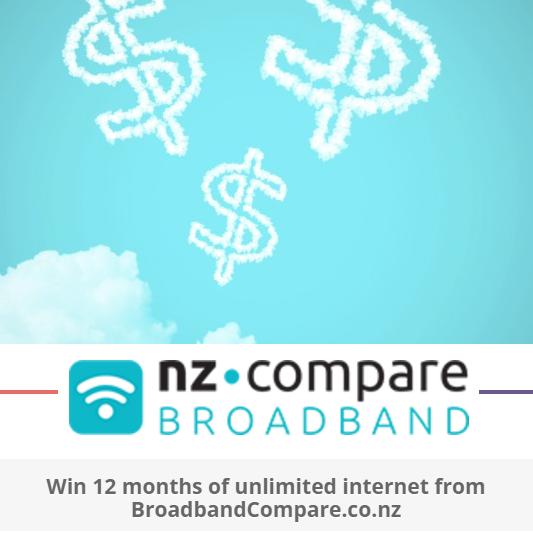 Win Free Broadband with BroadbandCompare.co.nz