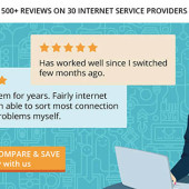 500+ ISP reviews at Broadband Compare