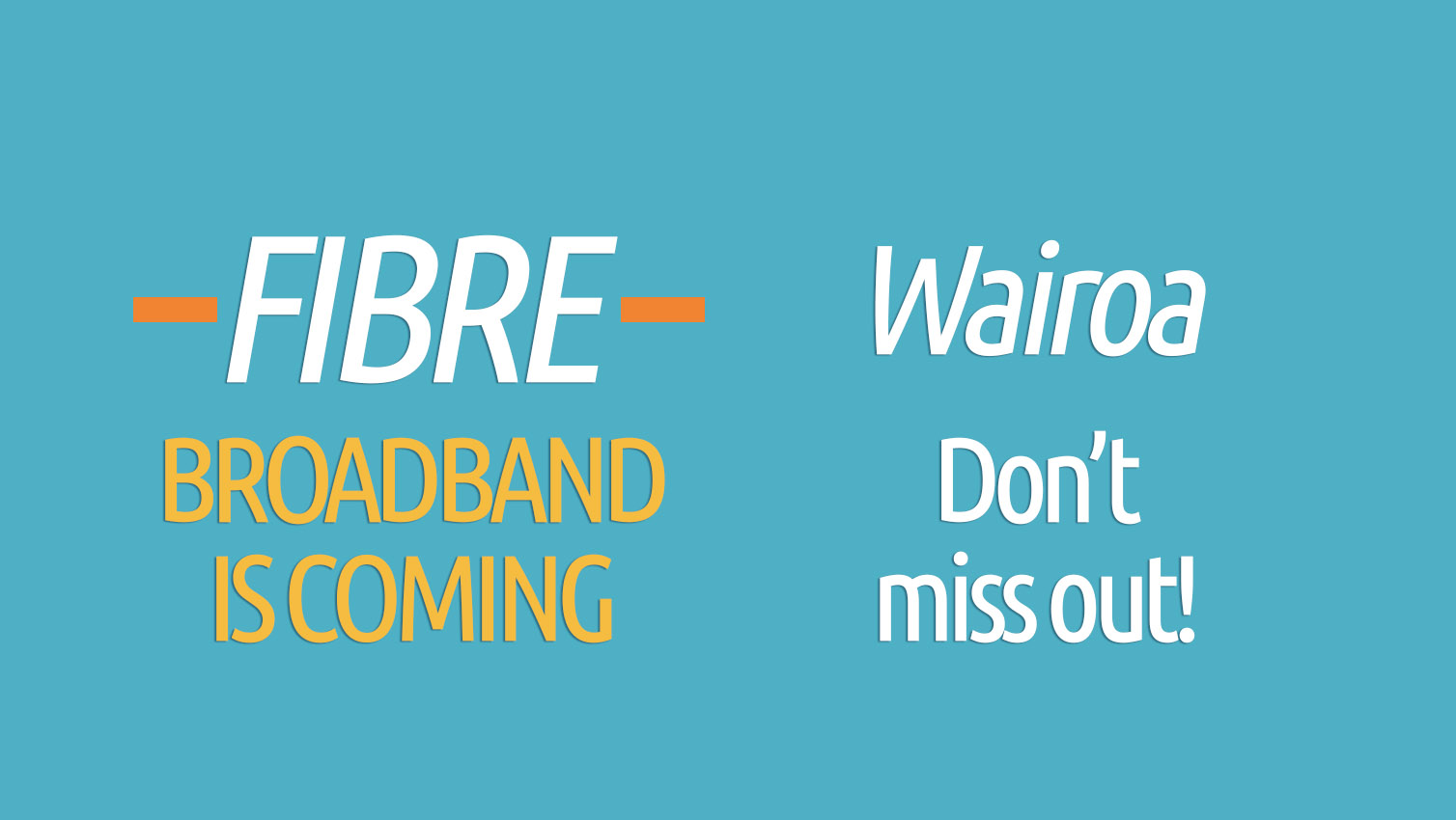 Ultra-fast fibre broadband rollout has started in Wairoa