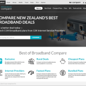 Redesigned experience for compare broadband at Broadband Compare