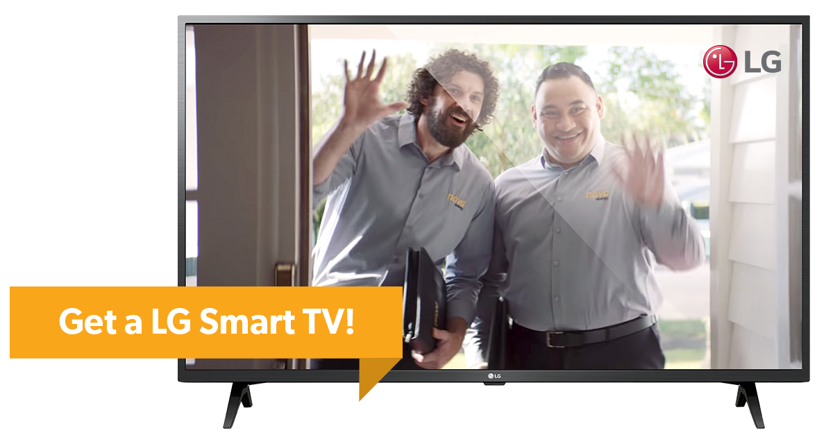 Get a LG Smart TV with Nova Energy TV Bundle Plan
