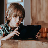 Kids using devices during school holidays